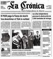 Un incendio provocado destruye la rotativa del diario 'La Crónica' de Almería